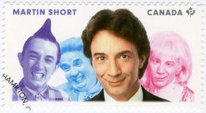 加拿大- 2014年:展示出生的马丁Hayter短1950年,演员,系列了不起的加拿大喜剧演员 免版税库存图片
