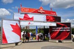 加拿大cartier日入口jacques公园 免版税库存照片