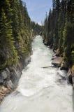 加拿大kootenay国家numa公园瀑布 免版税库存图片