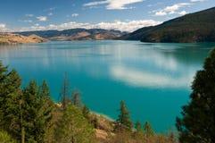 加拿大okanagan BC kalamalka的湖 免版税图库摄影