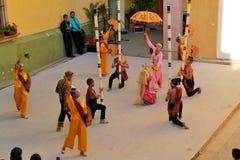 加拿大Philippino舞蹈小组执行 免版税库存照片