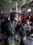 加拿大Skyhawks/Skydiving小组 免版税库存图片