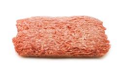 加料碎肉查出在白色 库存图片