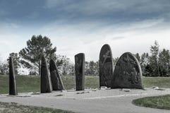 加斯佩历史的生铁雕塑 免版税图库摄影