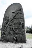 加斯佩历史的生铁雕塑 免版税库存照片