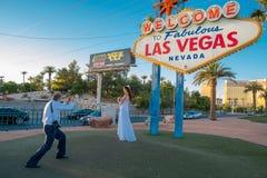 维加斯婚礼的记忆 免版税库存图片