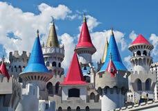 维加斯小条的Excalibur旅馆 库存照片