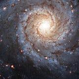 更加杂乱74,在星座双鱼座的NGC 628旋涡星云 免版税库存图片