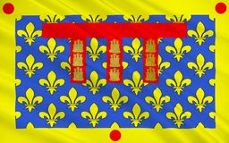 加来海峡省,法国旗子  向量例证