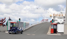 加来轮渡法国门高速终端 库存照片