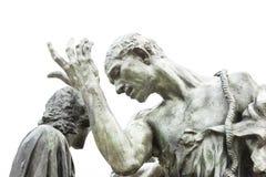 加来雕象的Rodins市民-细节 库存照片