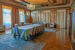 加格拉,阿布哈兹- 2014年10月4日:斯大林` s别墅的餐厅 免版税图库摄影