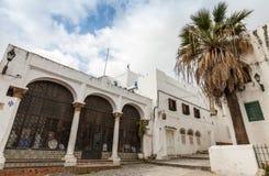 更加气味强烈的摩洛哥 老麦地那街道视图 免版税库存图片