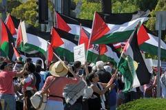 加沙抗议 免版税库存照片