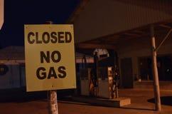 加油站出于气体 库存图片