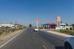 加油站卢克石油 免版税图库摄影
