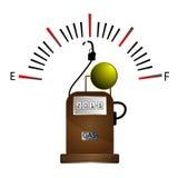 加油站和汽油表 免版税库存照片