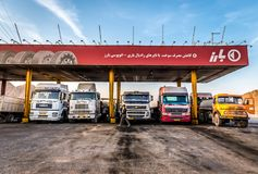 加油站在伊朗 图库摄影