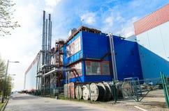加油站在圣彼德堡、独立气体发电器和锅炉室在一个地方 库存图片