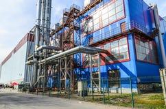 加油站在圣彼德堡、独立气体发电器和锅炉室 免版税图库摄影