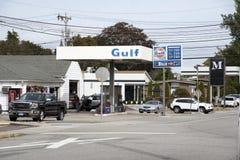 加油站在康涅狄格美国 免版税库存照片