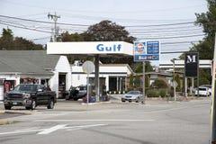 加油站在康涅狄格美国 库存照片