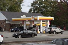 加油站在康涅狄格美国 库存图片