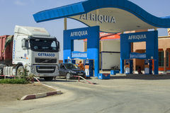 加油站在摩洛哥 免版税库存图片