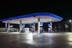 加油站在曼谷泰国 库存图片