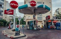 加油站在特拉维夫 免版税库存照片