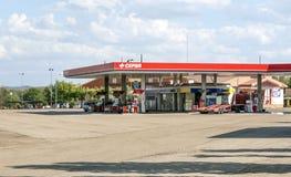 加油站在西班牙 库存图片
