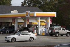 加油站康涅狄格美国 库存图片