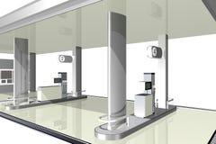 加油站, 3D 库存图片
