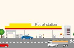 加油站 图库摄影
