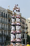 加泰罗尼亚的人的塔, Castells 免版税图库摄影