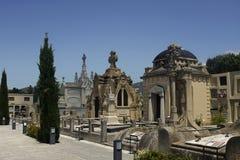 加泰罗尼亚的公墓 免版税库存图片