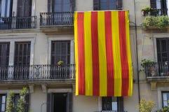 加泰罗尼亚的国旗 图库摄影