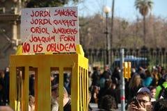 加泰罗尼亚的政治犯 库存照片