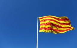 加泰罗尼亚的旗子 免版税库存照片