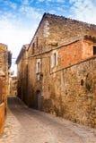 加泰罗尼亚的村庄。La Pera,卡塔龙尼亚 库存照片