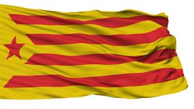 加泰罗尼亚的民族主义旗子,隔绝在白色 皇族释放例证