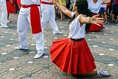 加泰罗尼亚的西班牙人舞蹈 图库摄影