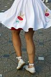 加泰罗尼亚的西班牙人舞蹈 免版税库存照片