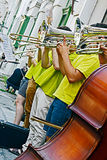 加泰罗尼亚的西班牙街道音乐 免版税库存照片
