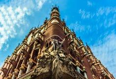 加泰罗尼亚的音乐宫殿在巴塞罗那 免版税库存照片
