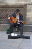 加泰罗尼亚的音乐家在巴塞罗那 免版税库存照片