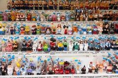加泰罗尼亚的caganers在圣诞节市场上 库存图片