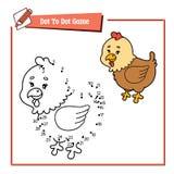 加点母鸡比赛的小点 库存照片