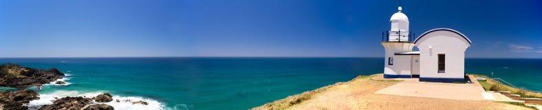 添加点灯塔澳大利亚全景 免版税库存图片