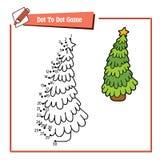 加点的圣诞树小点 免版税库存图片